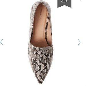 Shoes - Snakeskin Leather Block Heel Pumps 9.5